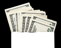 Money in an envelope, abstract Stock Images