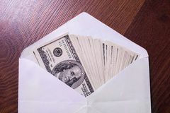 The money in the envelope Royalty Free Stock Photo
