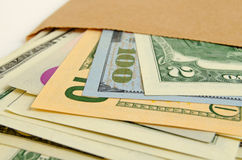 Money in envelope. Royalty Free Stock Images