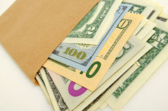 Money in envelope. Royalty Free Stock Image