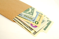 Money in envelope. Royalty Free Stock Photo