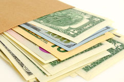 Money in envelope. Royalty Free Stock Photography