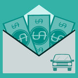 Money in an envelope Royalty Free Stock Photos