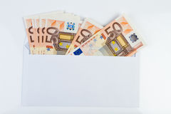 Money in an envelope Royalty Free Stock Photo