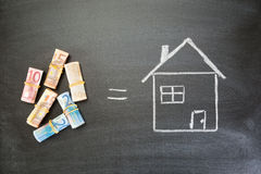 Money Equals House Royalty Free Stock Photo