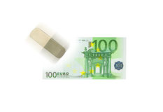 Money and eraser Stock Image