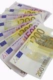 Money euro. On the white background Royalty Free Stock Photography