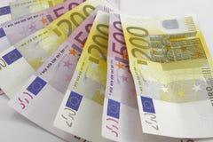 Money euro. On the white background Stock Image
