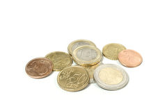 Money Euro. All the Euro coins used in Europe Stock Photos
