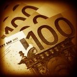 The money euro. Bundle of bank notes Royalty Free Stock Photo