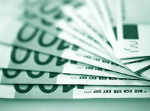 The money euro. Bundle of bank notes Royalty Free Stock Photos