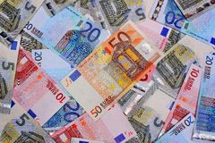 Money euro background Stock Images