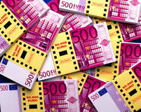 Money 500 Euro bank notes. Bundle of money with 500 Euro bank notes Stock Images
