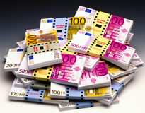 Money Euro bank notes Stock Photo