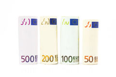 Money euro banknotes. Background of euro money 50 100 200 and 500 Royalty Free Stock Photography
