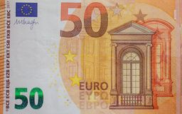 Money, 50 euro, business and finances concept stock image