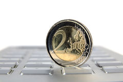 Money and euro coin Royalty Free Stock Images