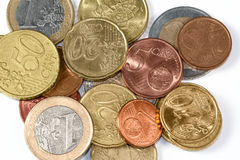 Money - Euro. Coin and paper moneys Stock Images