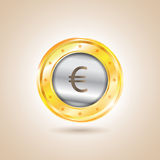 Money - euro coins. Vector illustration Royalty Free Stock Photography