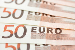 Money, Euro currency (EUR) bills Royalty Free Stock Images