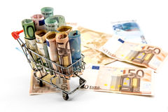 Money, Euro currency Royalty Free Stock Images
