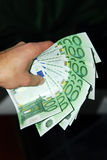 Money (euro) in hand Royalty Free Stock Photos