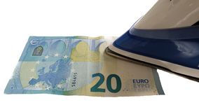 Money Euro Ironing Laundry royalty free stock images