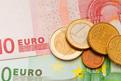 Money euro. Macro photo of money euro Stock Image