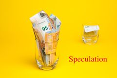 Money in euro notes and coins royalty free stock photos