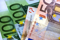 Money. Euro paper money worth value Royalty Free Stock Images