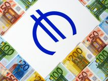 Money euro and sign Royalty Free Stock Photography