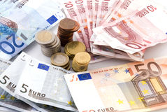 Money in europe Royalty Free Stock Photos
