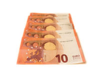 Money of europe euro currency business concept dubt Royalty Free Stock Images