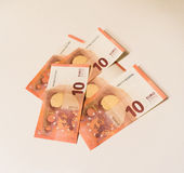 Money of europe euro currency business concept dubt Royalty Free Stock Image