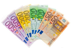 Money from the European Union. Euro Currency Royalty Free Stock Photography