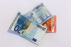 Money, euros, cash in detail Royalty Free Stock Photography