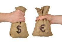 Money exchange Stock Image