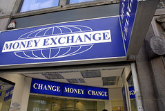 MONEY EXCHANGE Royalty Free Stock Images