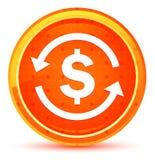 Money exchange dollar sign icon natural orange round button royalty free illustration