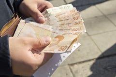 Money exchange Royalty Free Stock Photo