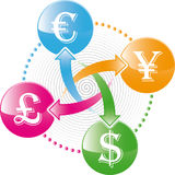 Money exchange icon. World money exchange  icon Royalty Free Stock Photo