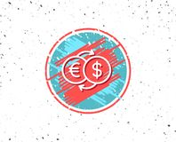 Money exchange line icon. Banking currency. Stock Photography