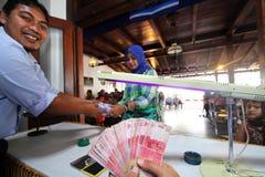 Money exchange Stock Photography