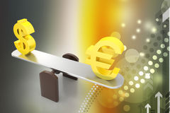Money exchange rate Stock Images