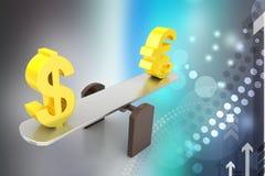 Money exchange rate Royalty Free Stock Photo