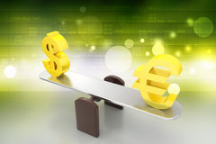 Money exchange rate Royalty Free Stock Photography
