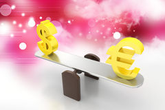Money exchange rate Royalty Free Stock Images