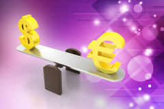 Money exchange rate Royalty Free Stock Image