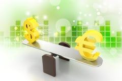 Money exchange rate Royalty Free Stock Photos