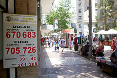 Money Exchange, Santiago de Chile, Chile Royalty Free Stock Image